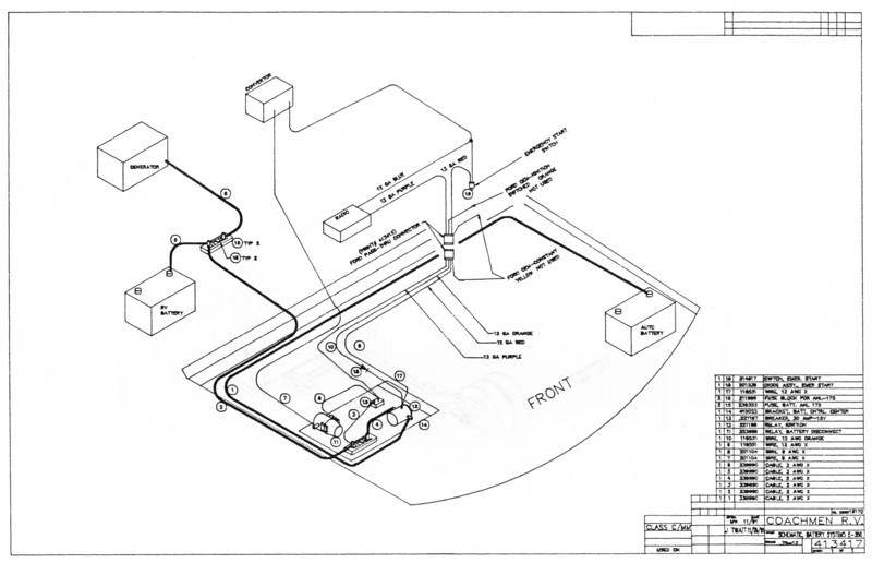 [SCHEMATICS_4FD]  RV.Net Open Roads Forum: Stumped - E350 chassis Starting + AUX battery | 1999 Coachmen Rv Wiring Diagram |  | RV.net